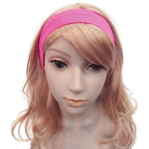 Bristol Novelty BA866 Neon 80's Haarband Roze, Vrouwen, One Size