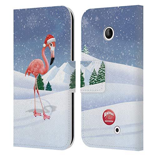 Head Case Designs Ufficiale Animal Club International Fenicottero Animali Cover in Pelle a Portafoglio Compatibile con Nokia Lumia 630