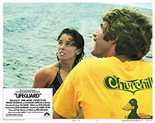 Lifeguard Sam Elliott Anne Archer on water original lobby card