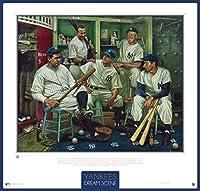Yankees Baseball Dream Scene Lithograph Photo - By Artist Jamie Cooper