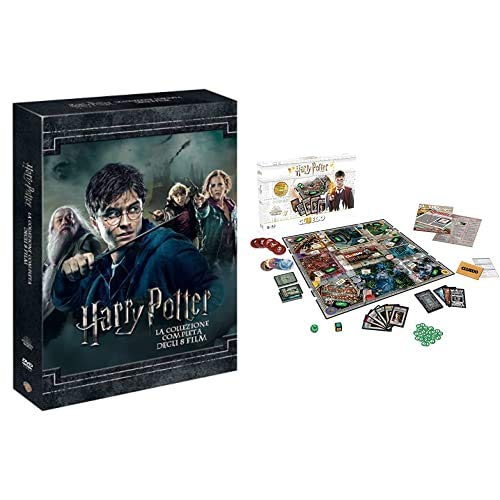 Harry Potter Collection (Standard Edition) (8 Dvd) + Winning Moves Gioco da Tavolo-Cluedo Harry Potter Edizione da Collezione, WM00100-ITA-6