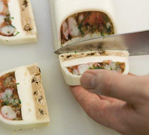 getgastro Profi Pastetenform mit Deckel - für Pasteten und Terrinen, in 3 unterschiedlichen Formen | Sun (A1 - Länge: 30 cm)