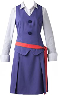Anime Little Witch Academia Daily Teaching Purple Dress Cosplay Costume