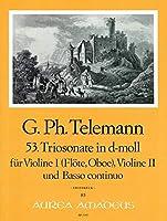 TELEMANN - Trio Sonata en Re menor (TWV:42/d 8) para 2 Violines (2 Flautas) (2 Oboes) y Piano (Pauler)