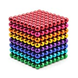 YOIKO マグネットボール 立体パズル 直径5mm 教育工具 DIY工具 脳開発 ストレス解消 おもちゃ レインボー (八色512個 進級版)