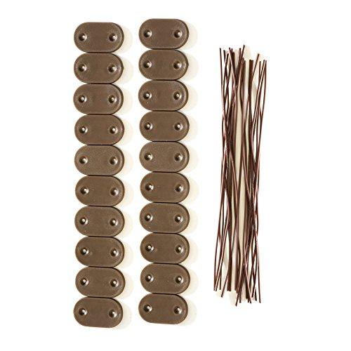 jarolift Kit de Fixation pour canisse en PVC, Marron/Lot de 40