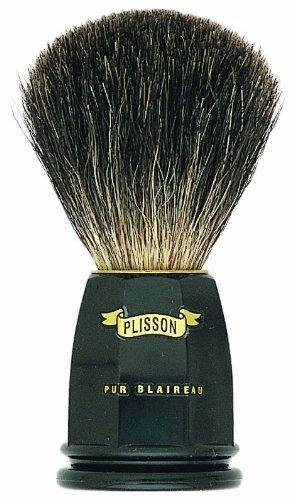 plissons 5543Rasierpinsel, Größe 12, Pure schwarz Borsten, Schwarzer Griff