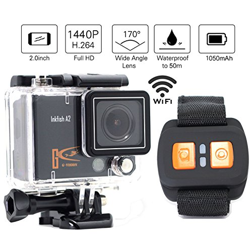 1+1Ultra Hd 4K WiFi Action Camera 1080p 60fps 2.0 Inch Screen 170°a+ Real-time FPV Quadcopter Drone Sports Wrist Remote Control Sport Waterproof Camera