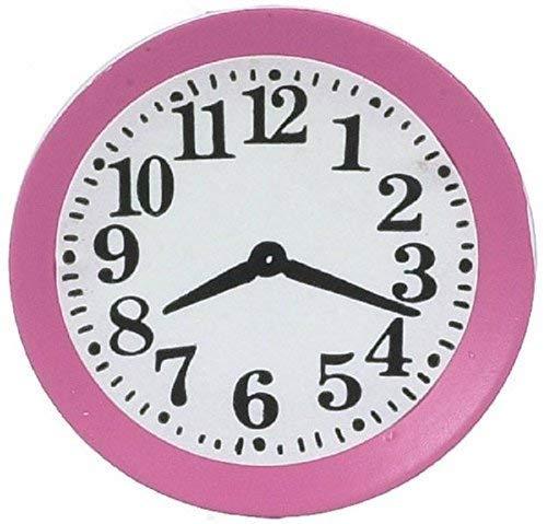 Melody Jane Puppenhaus Miniatur Zubehör Küchen Wanduhr Pink 5045