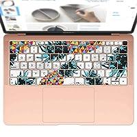 igsticker MacBook Air 13inch 2018 専用 キーボード用スキンシール キートップ ステッカー A1932 Apple マックブック エア ノートパソコン アクセサリー 保護 011916 パイナップル カラフル おしゃれ