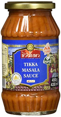 Truly Indian Tikka Masala Sauce (Angenehm scharfe Fertigsauce für schnelle Gerichte mit natürlichen Zutaten, Authentisch indisch kochen, Vegan und glutenfrei) (1 x 450 g)