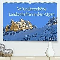 Wunderschoene Landschaften in den Alpen (Premium, hochwertiger DIN A2 Wandkalender 2022, Kunstdruck in Hochglanz): In diesem Kalender gibt es schoene Fotos aus den Alpen zu sehen (Monatskalender, 14 Seiten )