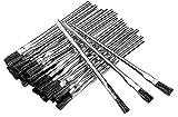 150pc ALAZCO 6' Long 3/8' Acid Brushes Natural Flexible Horsehair Bristles - Tin (Metal) Tubular Handles & Ferrules Home School Work Shop Garage