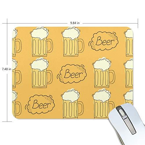 Preisvergleich Produktbild Mauspad MalpLENA Cartoon Bier Muster Mauspad Premium texturierte Mauspad,  rutschfeste Gummiunterseite,  für Laptop,  Computer und PC