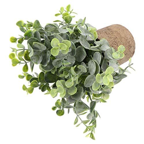 Hemoton Plantas en Maceta Artificial Mini Falso Boj Topiary Árbol Artificial Bonsai Greenery Faux Bonsai Simulación Plantas en Maceta para La Decoración de La Oficina en Casa (Tamaño 2)