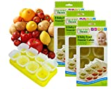 Baby Weaning Food Pots Freezer Tubs Stacking Tray Cubes Containers BPA Free for Storing Mashed Food, Formula, Snacks, Breast Milk & Fresh Food Pack of 3