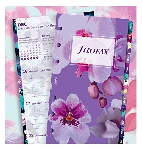 Filofax 21-6341 - Blumen illustriert Tagebuch Nachfüllpackung - Persönlich Größe - 2021 (Mehrsprachig)
