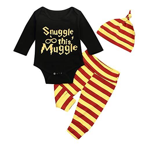 OKlady - Conjunto de ropa para bebé y niña, 3 – 3 piezas, para acurrucarse Negro 0-3 Meses