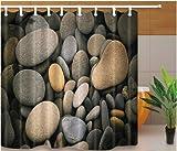 floolter Duschvorhänge Stein Herzform Bad Displaye Modern Simple Style Home Decor 180X200cm mit Haken