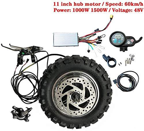 GZFTM Hochgeschwindigkeits-LY 11-Zoll-Nabenmotorsatz 48V1000W1500W Elektromotor Motor Buggy Getriebeloser TX-Motor 60 km/h Elektrosatz Fettreifen (48V1500W Hub Motor)