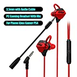 Adaskala (3.5mm) G10-A PC Gaming Headset Earphone Headphone with Microphone Volume Control Stereo Noise Cancelling for Phone Xbox Gamer PS4 FPS Game for CSGO Judge Direction