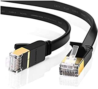 Edimax 1m Black 10GbE Shielded CAT7 Network Cable - Flat