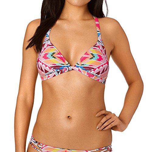 BILLABONG Mujer Tribe Time Fixed TR Bikini Parte Superior, Mujer, Tribe Time Fixed TR, Multicolor, L