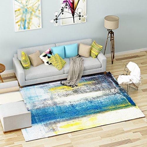 Creative Light Simple Style Moderne Motif géométrique Tapis Salon Table à café Tapis Chambre à Coucher lit Tapis (Taille : 0.82m*1.22m)