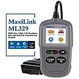 Autel MaxiLink ML329 Herramienta de Diagnóstico de Motor Universal OBD2 EOBD con Test Preparación Emisiones ITV y Auto Detección de Información del Vehículo (nueva versión AutoLink AL319)