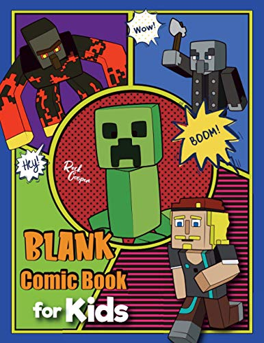Blank Comic Book for Kids: Blank comic book panel book for Minecrafters |Create Your Own Story, Drawing Comics and Writing Stories|An Unofficial Comic Book For Kids , Minecrafters