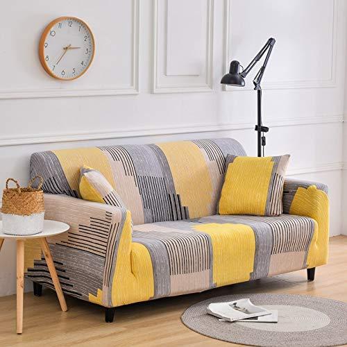 PPMP Sala de Estar Cubierta de sofá elástica con Todo Incluido Cubierta de sofá de celosía elástica Cubierta de sofá de Fondo de sofá Silla Cubierta de sofá A5 4 plazas