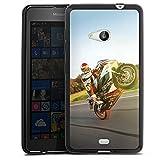 DeinDesign Silikon Hülle kompatibel mit Microsoft Lumia 535 Dual SIM Hülle schwarz Handyhülle Motorrad YouTube