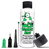 Bearly Art Precision Craft Glue - The Original - 4fl oz - Tip Kit Included - Dries Clear - Metal Tip - Wrinkle Resistant - Flexible and Crack Resistant - Strong Hold Adhesive - Made in USA