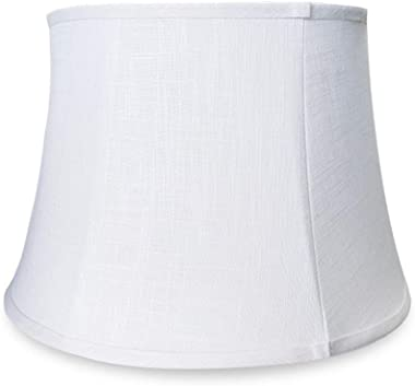 """Tootoo Star White Large Drum Lamp Shade for Chandeliers Floor Light and Table Lamp, 12x16x11"""" Spider, Fabric Natural Line"""