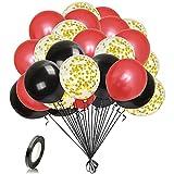 Unisun Ballons Rouges Noirs 12