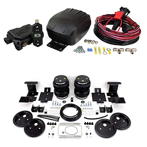 Air Lift 25980 88204 Set of Wireless One Single Path On-Board Air Compressor System with Rear Load Lifter 5000 Ultimate Kit for 07-18 GMC Sierra/Chevrolet Silverado 1500