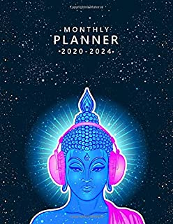 2020-2024 Monthly Planner: Five Year Monthly Organizer with 60 Months Spread View   5 Year Agenda & Diary with To-Do's, In...