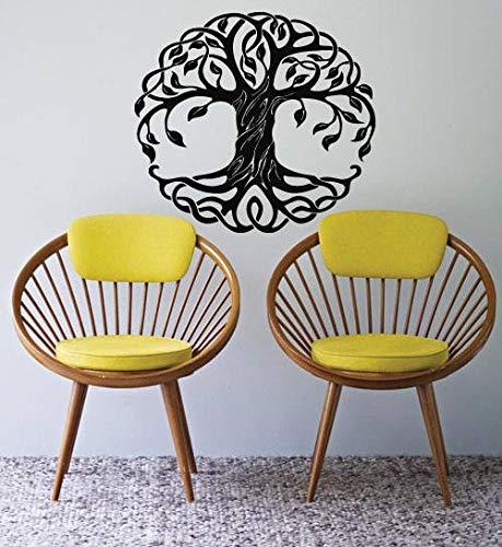 Wandtattoo / Fensteraufkleber, keltischer Baum des Lebens Zweige Wurzeln Wohnzimmer Yoga Studio Dekor