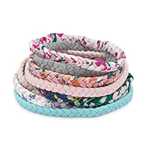 "Parker Baby Girl Braided Headbands, Assorted 10 Pack of Hair Accessories for Girls -""Wildflower Set"""