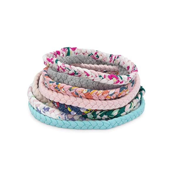 """Parker Baby Girl Braided Headbands, Assorted 10 Pack of Hair Accessories for Girls -""""Wildflower Set"""""""