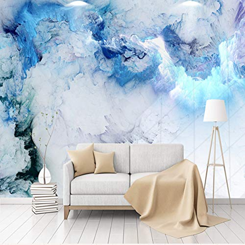 VVNASD 3D Dekorationen Aufkleber Wandbilder Wand Tapete Blaue Wolken Wohnzimmer Hintergrund Dekoration Kunst Kinder Küche (W) 300X(H) 210Cm