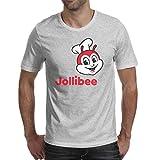 BVBN Summer Men's Round Neck T Shirt Jollibee-Logo- Crazy Personalized Casual Raglan Short Sleeve