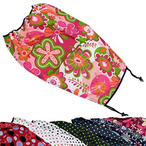 BAMBINIWELT SONNENSEGEL Sonnenschutz Sonnendach UV50+ für Kinderwagen Buggy DESIGN (pink orange grün Blumen)