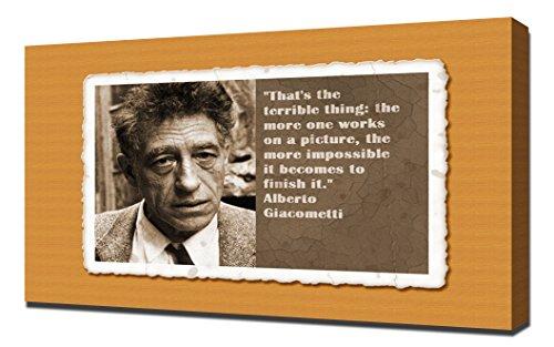 alberto giacometti quotes 4 - Canvas Art Print