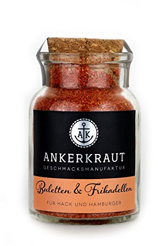 Ankerkraut Buletten & Fleischpflanzerl, Frikadellen & Hack, 100g im Korkenglas, Gewüzmischung zum Zubereiten von Rind und Schwein