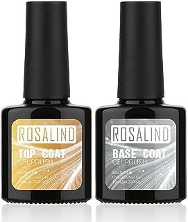 ROSALIND 10 ml 2 piezas Top Coat + Base Coat UV Gel Esmalte