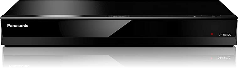 Panasonic 4K Ultra HD Blu-ray Player with HDR10, HDR10+ and Hybrid Log-Gamma (HLG) Playback, Hi-Res Sound, 4K VOD Streaming and Voice Assist – Black (DP-UB420)