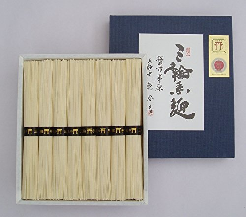 極上 手延べそうめん 三輪素麺 「誉」 紙箱 のし付 400g 8束 奈良 三輪山麓にて製造