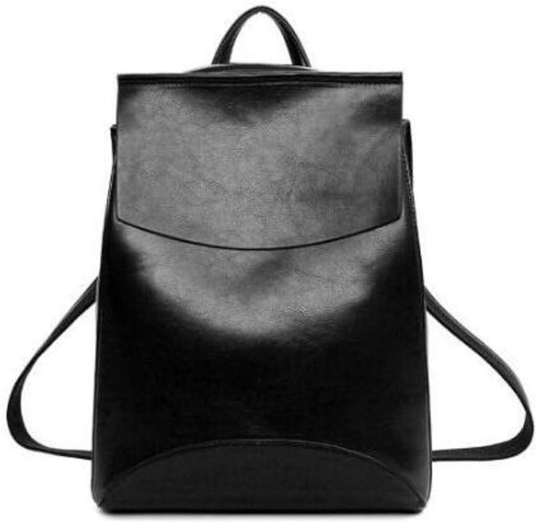Meaeo Meaeo Meaeo Schultertasche Rucksäcke Hohe Qualität Frauen Leder Rucksack Schultaschen Für Jugendliche Mädchen, Schwarz B07J1NBHW6  Moderne und stilvolle Mode 4b2272
