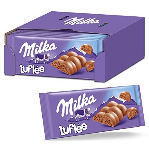 Milka Luflée 13 x 100g, Zartschmelzende Schokoladentafel aus luftiger Alpenmilch